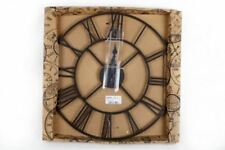 40cm Large Frame Roman Numeral Black Wall Clock Decor Gift Vintage Rustic Home