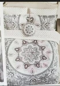 Wander Home Kalisha Medallion Print 6-Piece Twin/XL Comforter Set Charcoal/Multi