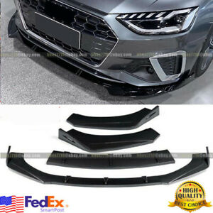 Carbon Fiber Front Bumper Lip Spoiler Splitter Trim Cover For AUDI A3 A4 A5 A6