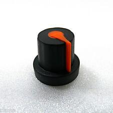 10x Rubber Coated Plastic Knurled Grip Potentiometer Knobs (Black Orange)