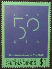 """SAINT VINCENT - 50 Jahre Org. Amerikanischer Staaten """"OAS"""" , 1948 - 1998**"""