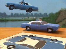 Papercraft 1971 Ford White Lightning movie police car EZU-make Paper Car
