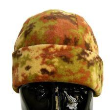 Cappello Tondo in Pile Mimetico Vegetato Esercito Italiano Zuccotto Papalina