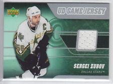 2006-07 UD SERIES 2 SERGEI ZUBOV GAME JERSEY J2-SZ GAME USED Upper Deck Stars