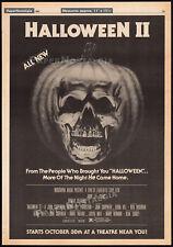 "HALLOWEEN II__Original 1981 Trade AD / poster__""Starts Oct 30th""__JOHN CARPENTER"
