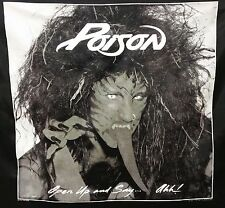 VINTAGE POISON OPEN UP AND SAY AHH BANNER FLAG BRETT MICHAELS NOS 1988 NIKRY HTF