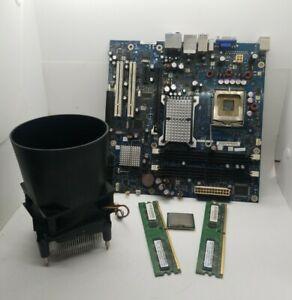 Intel Desktop Moderboard DG9650T, (1) CPU   Core 2 E6400 , (2)1 GB Memory, Fan.