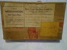 1942 VINTAGE SPORTING GOODS BOX DENVER COLORADO,Antique,dave cook,tomah,wi.,rare