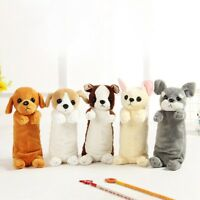 Soft Plush Cartoon Fluffy Animal Pencil Case Pen Bag Stationery Kids School Hot