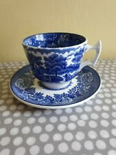 Enoch Woods Blue English Scenery Cup & Saucer