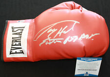 Larry Holmes signed & inscribed laced boxing glove, IBF, WBC, Beckett BAS N25650