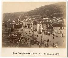 Knudsen knud, Norvège, Norway, Bergen, parti af Torvet (fishmarket)  Vintage alb