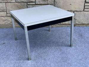 "Mid Century Modern Goodform Formica & Aluminum 23"" Square Coffee Table"