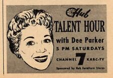 1958 TV AD~DEE PARKER HOSTS TALENT HOUR~HUB FURNITURE STORES~KABC LOS ANGELES