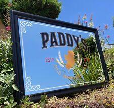 Paddy's Old Irish Whiskey Beer Bar Mirror Man Cave Pub