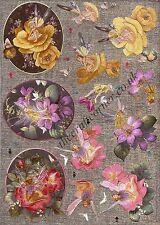 Fairy dans fleur rose DUFEX 3d DECOUPIS fabrication carte papier craft Cutting requis