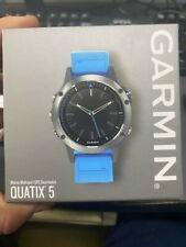 Quatix® 5 Marine Gps Smartwatch - Stainless Steel w/Blue Band