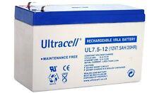 Ultracell UL7.5-12 : Batterie au plomb étanche 12V 7,5AH : 151x65x99mm (7500mAh)