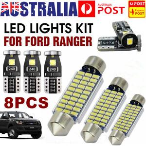 8Pcs For Ford Ranger PX1 PX2 PX3 Xenon White Led Interior Lights Upgrade Kit AU