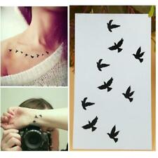 Waterproof Temporary Tattoo Stickers Watercolor Flying Decal Arm Birds Art Q4F2