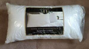 NEW Hotel Luxury Collection European White Down King Pillow 20x36 Hypoallergenic