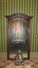 Ethan Allen Bonnet Top Hallway Mirror above Console Antiqued Tavern Pine 12 5020