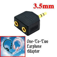 3.5mm Jack Plug 1 to 2 Double Earphone Headphone Y Splitter Cable Cord Adapter