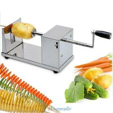 Manual Stainless Steel Twisted Potato Slicer Spiral French Fry Vegetable Cu