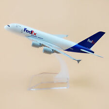 16cm Airplane Model Plane Air FEDEX Airlines Airbus 380 A380 Aircraft Model Toy