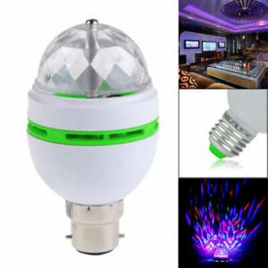 Colorful Rotating Stage LED Light Bulbs Flashing Disco DJ KTV Club Magic Lamp 3W