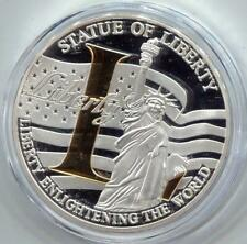 "American Mint Statue of Liberty | 40 MM MEDAL | GOLD ""L"" (RC14779)"