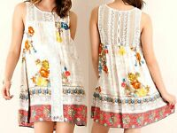 Entro Dress Size S M L Lace Beach Tunic Sun Shift Boho Anthropologie Womens New