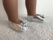 """18"""" Inch doll Silver Bow Flats Chaussures American Girl notre génération"""