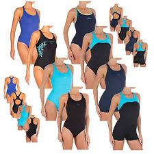 Damen Badeanzug Classic Sport Schwimmanzug mit Bein 36 38 40 42 44 46 48 50 52