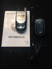 Motorola V188 - Black- TMobile Cellular Flip Phone ,Black & Silver