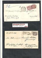 Norddeutscher Bund, NDP 1869/70, Sammlung seltene Briefe ex MiNrn: 16, D 4