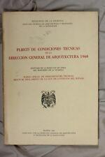 Libro Pliego de condiciones técnicas de la dirección general de Arquitectura. 19