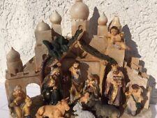 KRIPPENSTALL  ORIENTALISCH  inkl. 11 Figuren - Krippe - Weihnachtskrippe NEU OVP