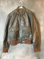Vintage - A-2 Brown Leather US Air Force Bomber Jacket - 38 - San Diego Flyer