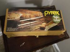 VINTAGE PYREX BAKE A ROUND BY CORNING  BREAD PAN TUBE WITH OVEN PROOF RACK #990