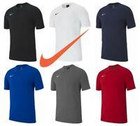 Nike Boys T Shirts Club 19 Kids Sports Football Jersey Gym Training Top Size