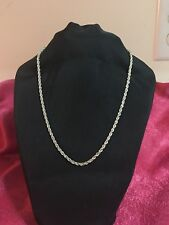 "DESIGNER ""OR"" USA STERLING SILVER 14K GOLD CABLE ROPE CHAIN 14.2 Grams Necklace"