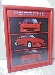 Vintage Car Picture 1980s Porsche, Kids room Red Porsche 911 Picture
