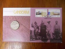 2013 20 Cent CENTENARY of CANBERRA Coin & Stamp PNC/FDC Unc in Dust Cover