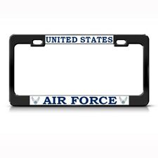 US AIR FORCE METAL MILITARY License Plate Frame Tag Holder
