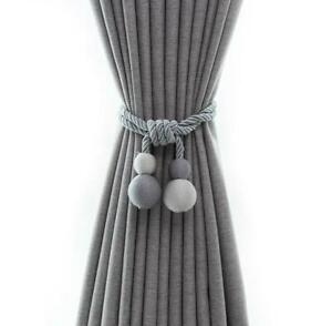 Curtain hanging balls in a pairSimple and modern tying strapsFixing straps