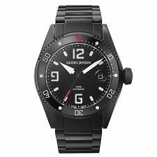 Georg Jensen 42mm Automatic Watch. Black PVD - Delta Dive