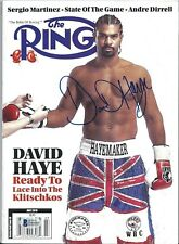 David Haye Signed Ring Boxing Magazine BAS Beckett D46060