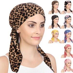 Women Muslim Hijab Cancer Chemo Hat Turban Cap Cover Hair Loss Head Scarf Wrap·