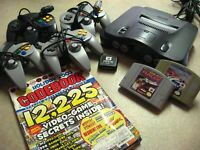 Nintendo 64 N64 Console Lot w/ 2 Games 4 Controllers System Bundle Expansion